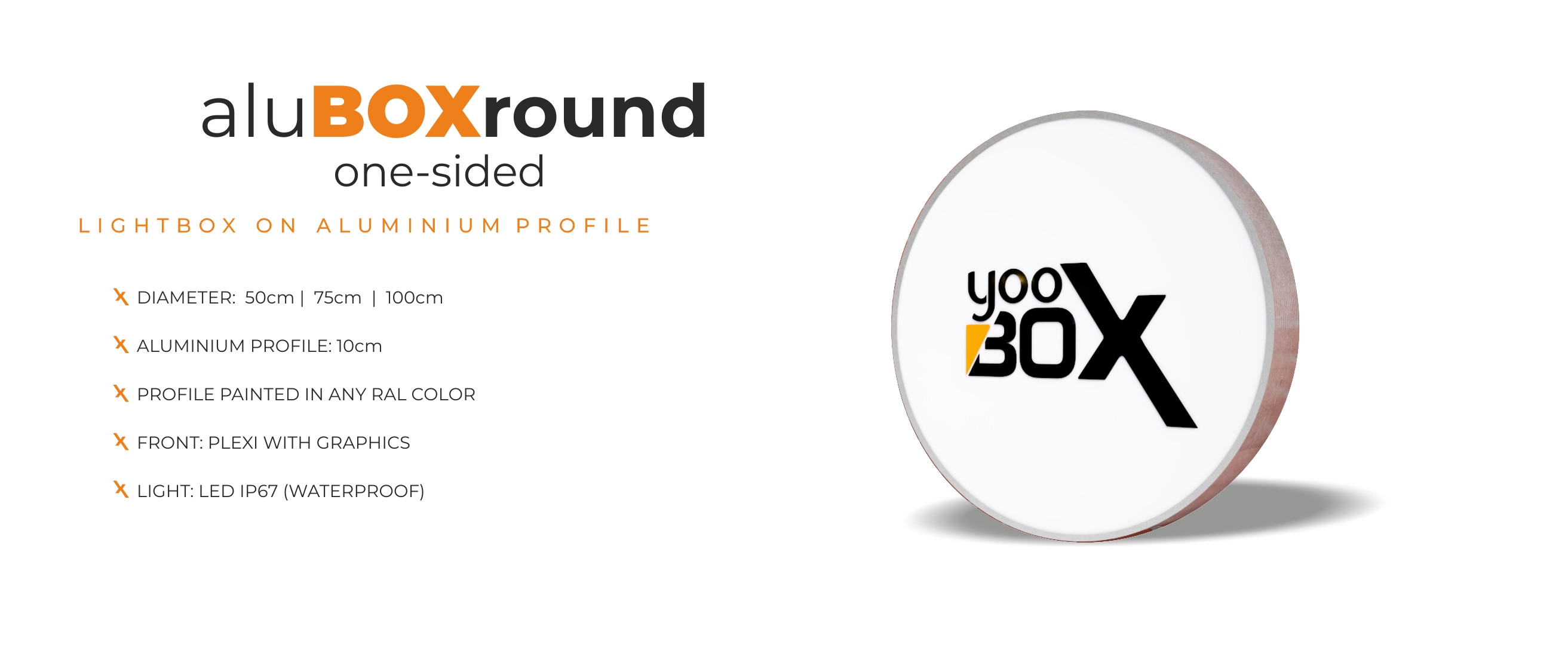 aluBOX round one-sided